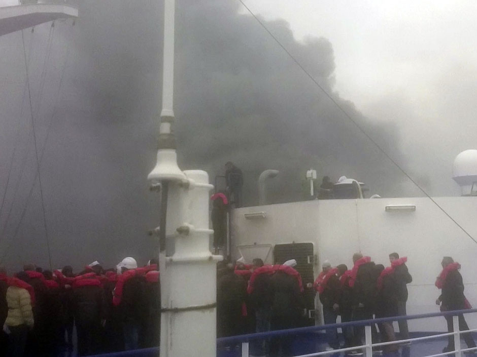 Greece Ferry Fire