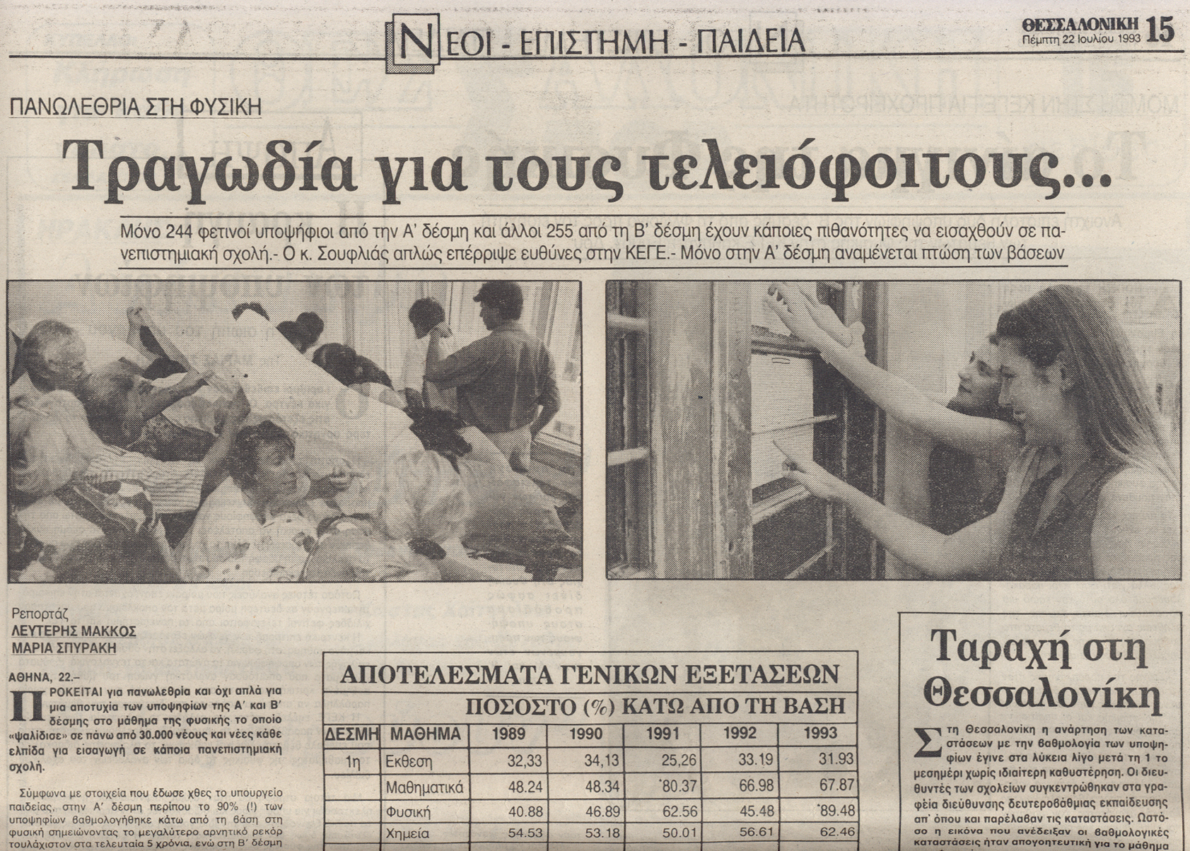 Evangelos Katsioulis on Thessaloniki, 1993