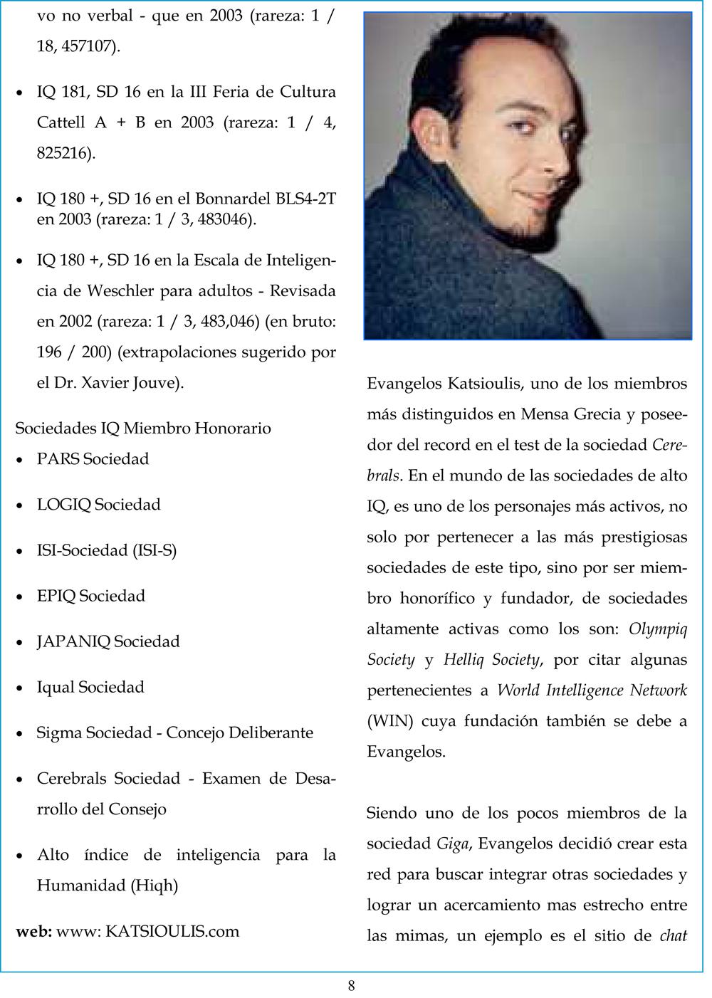 Dr Katsioulis on El Mensajero, 2011