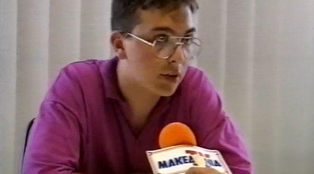 E. Katsioulis' interview on Makedonia TV News (1993) v.1