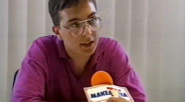 E. Katsioulis' interview on Makedonia TV News (1993) v.2