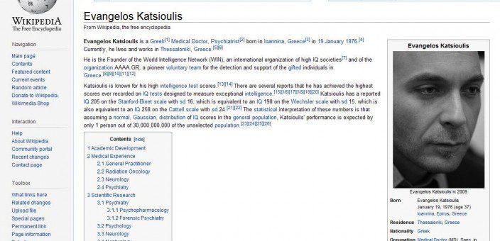 Dr Katsioulis on Wikipedia English (2013)